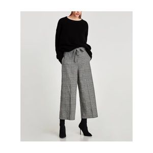 Zara Houndstooth Culottes